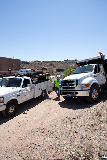 District trucks in field operations