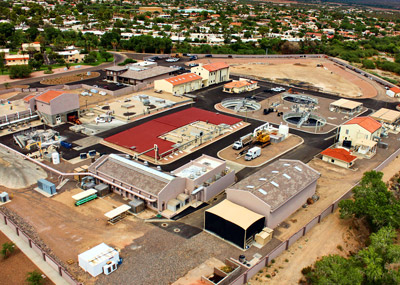 Aerial photo of Fountain Hills Sanitary District Plant