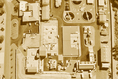 Aerial photo of Fountain Hills Sanitary District plant (Historic photo)