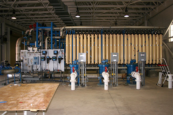 Microfiltration units inside AWTF