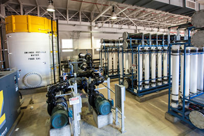 Treatment facility interior of Fountain Hills Sanitary District showing the Micro Filtration Process (AWTF)