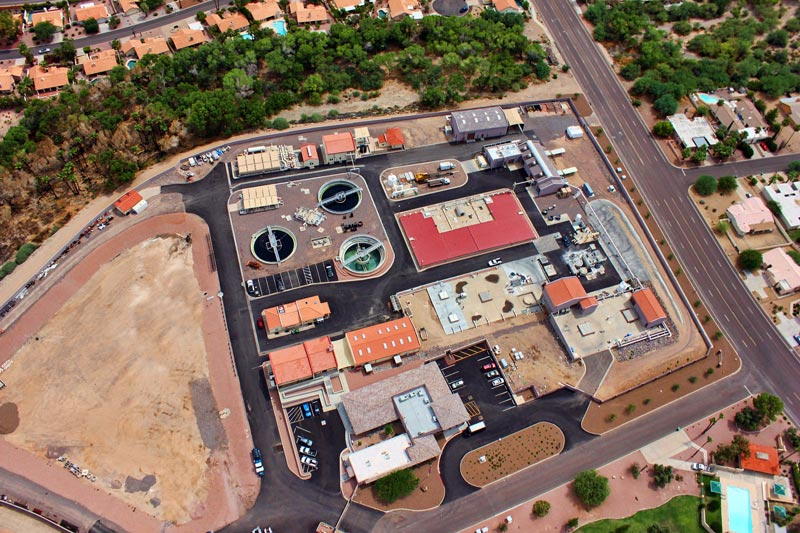 Aerial view of Fountain Hills Sanitary District Main Facility