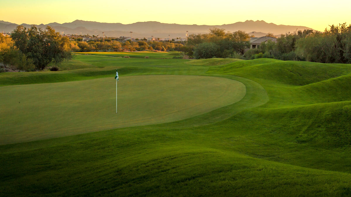 Golf course irrigated with recycled water
