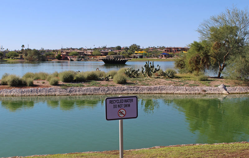 Recycled water is delivered to Fountain Lake
