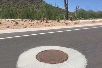 Manhole cover in Fountain Hills Arizona